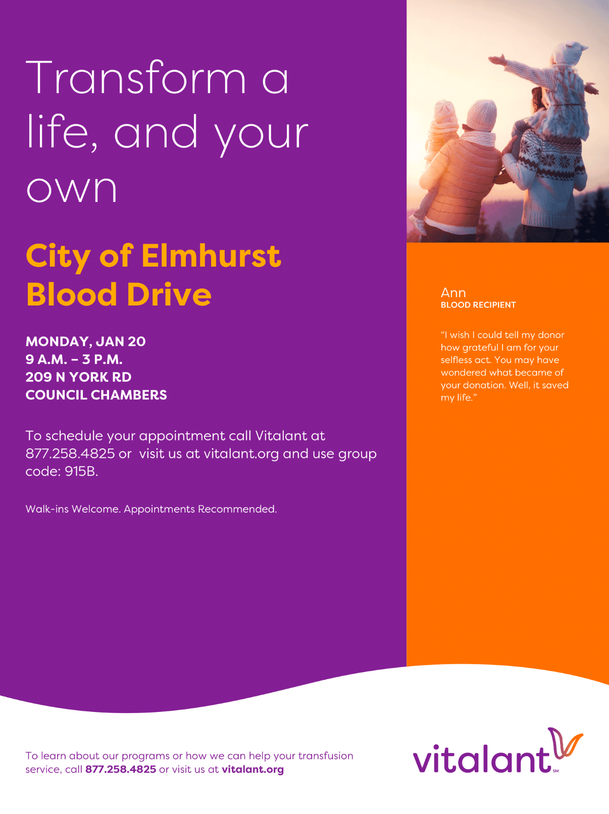 Blood Drive at City Hall